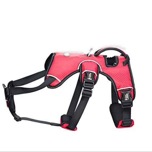 PLDDY Hundeleine, Hund Brustgurt Leine Hundekette explosionsgeschützt Punch Große Hundeleine Halsband K9 / 3 Farbe (Farbe : B, größe : S) -