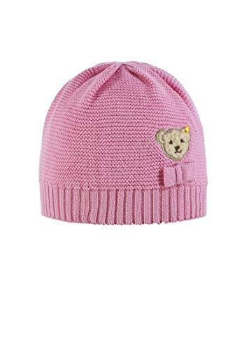 Steiff Baby-Mädchen Strick Mütze, Prism Pink|Rose 2160, 47 - Prism Pink Bekleidung