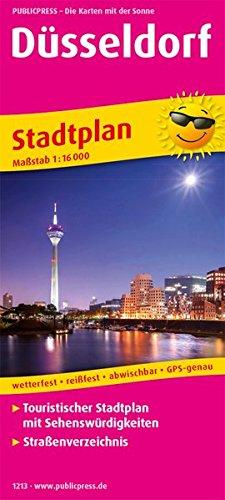 Düsseldorf: Touristischer Stadtplan mit Sehenswürdigkeiten und Straßenverzeichnis. 1:16000 (Stadtplan / SP)