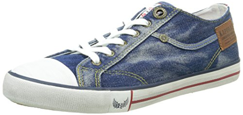 Kaporal Icare, Baskets Basses Homme Bleu (Bleu Denim)