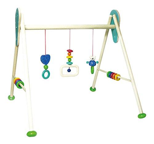 (Hess Holzspielzeug 13374 Babyspielgerät Bär Tim aus Holz, höhenverstellbar, ca. 62 x 57 x 55 cm)
