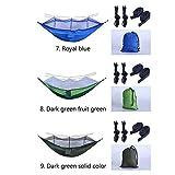 CNKSKXK-hammock Camping Hängematte mit Moskitonetz - Geeignet für Outdoor Reisehängematte Camping Wanderrucksack,8.Darkgreenfruitgreen