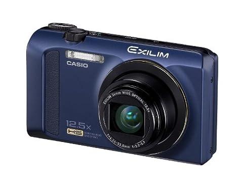 Casio Exilim EX-ZR200 Digitalkamera (16 Megapixel, 12-fach opt. Zoom, 7,6 cm (3 Zoll) Display, bildstabilisiert) blau