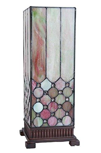 Lumilamp 5LL-5801 Tischleuchte Tischlampe Tiffany Stil 18 * 18 * 44 cm E27/40w dekoratives buntglas Tiffany Stil