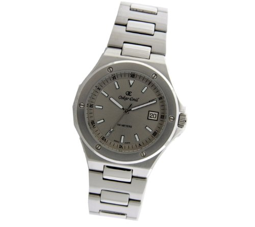Oskar Emil luzern grey – Reloj de caballero de cuarzo, correa de acero inoxidable color plata