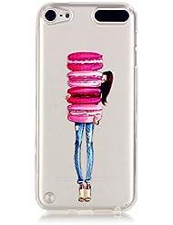 MUTOUREN Handyhülle für iPod Touch 5/Touch 6 TPU Silikon Case Cover Durchsichtig Schutzhülle Tasche Etui Bumper Ultradünne Weich Kratzfeste Soßdämpfende Silikontasche Hülle Weiß - Hamburg Mädchen