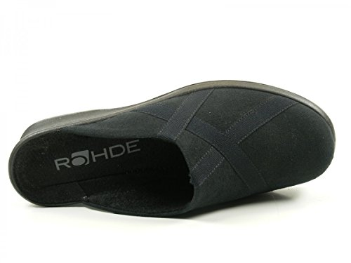 Rohde - Farun, Pantofole Donna Schwarz