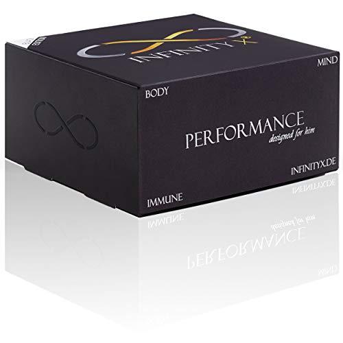 Performance Black | Testosteron-Kur in 30 Einzelportionen | Hochdosiert | Muskelaufbau | 210 Kapseln | Laborgeprüft | Made in Germany | von INFINITY X