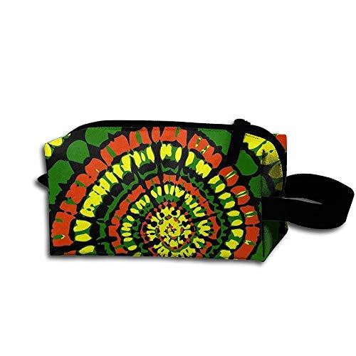 Rasta Tie Dye Stylish Women's Tolietry Bag Cosmetic Travel Case Accessories Organizer