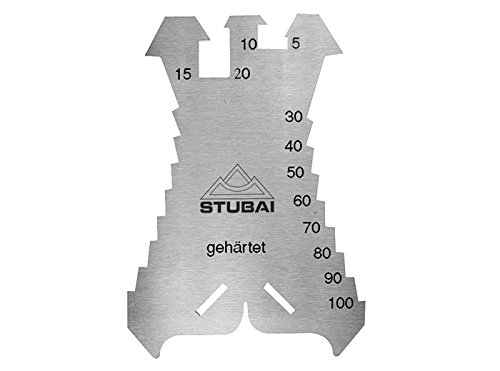 Stubai 278601 Anreißschablone 1, 3 mm, gehärtet140x100 mm