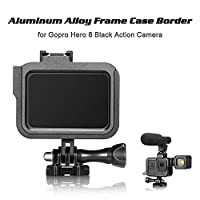 Mainstayae Frame Case Border Protective Cover Aluminum Alloy Housing Mount Base Replacement for GoPro Hero 8 Black Action Camera Protection Accessory