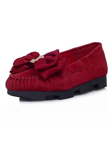 ZQ Scarpe Donna - Mocassini - Casual - Punta arrotondata - Piatto - Finto camoscio - Nero / Blu / Rosso , red-us8 / eu39 / uk6 / cn39 , red-us8 / eu39 / uk6 / cn39 red-us6 / eu36 / uk4 / cn36