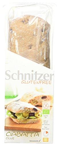 Schnitzer glutenfree Bio Ciabatta Olive, 4er Pack (4 x 360 g)
