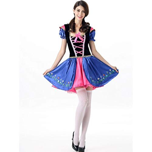 SHENTIANWEI Europäische und amerikanische Damen Halloween Kostüme Cosplay Außenhandel sexy Eis Romantik Romantik Fee Prinzessin Rock Uniform (Color : 3014-Blue, Size : Einheitsgröße)