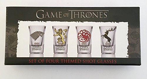 GoT 10715?Game Of Thrones Shooter Schnapsglas Set?Baratheon?Targaryen?stark?Lannister