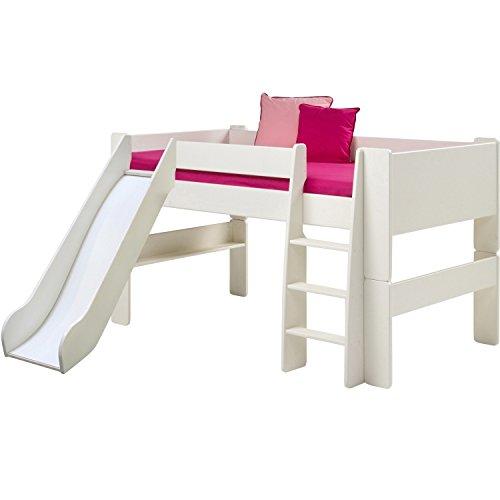 Dynamic24 Molly Kids Bett mit Rutsche 90 x 200cm