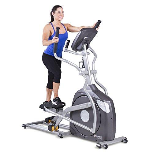 Spirit Fitness xe795Crosstrainer Cross Trainer, Fitness, Bewegung, Fitnessstudio, MP3-Audio Jack und Lautsprecher, Blau beleuchtetes LCD-Display, 12Trainingsprogramme, 40Widerstandslevel, eingebauter Ventilator, robusten Rahmen - 2