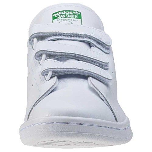 adidas Herren Stan Smith Cf Turnschuhe, Weiß Weiß (Ftwbla / Ftwbla / Grün)