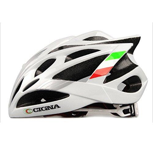 245g Ultra Ligero Ciclismo Bicicleta de montaña Bicicleta VTB Casco de seguridad para bicicletas - Cascos de seguridad para hombres y mujeres adultos, niños y niñas adolescentes - Cómodo, ligero, ( Color : White L )