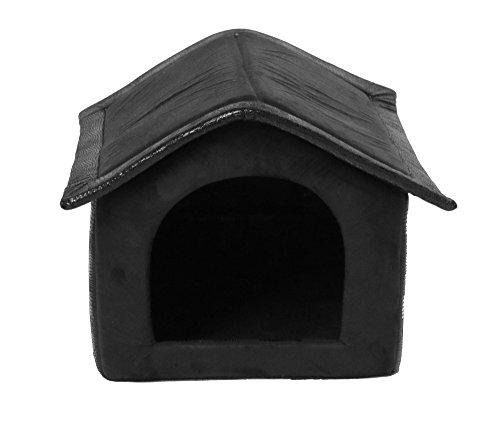 SAUERLAND Stoff-Hundehütte, schwarz - 64 x 57 x 60 cm
