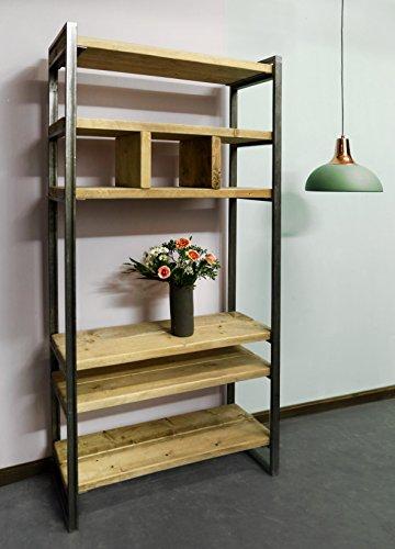 Regal aus Bauholz & Eisen Sinem 210cm -