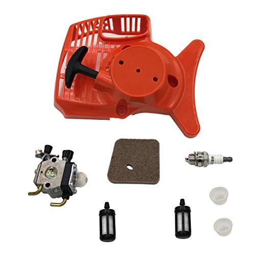 Shioshen Rückstoß Anlasser Vergaser Luft Kraftstoff Filter Kit für STIHL FS55 FS46 FS45 FS38 FC55 HL45 KM55 FS 55 Trimmer Edger Weedeater