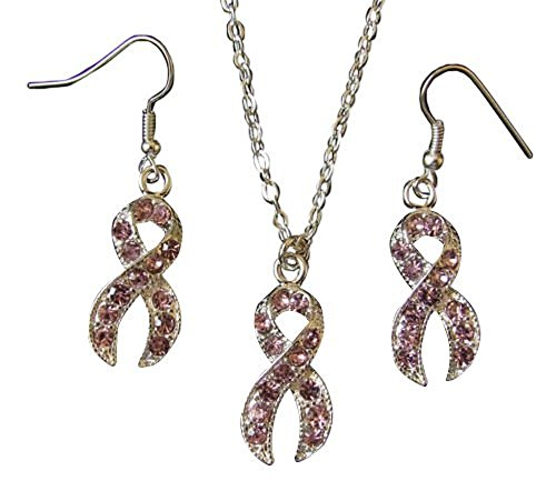Collar Pendientes Diamantes Rosas Imitación