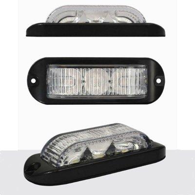 Preisvergleich Produktbild LED Autolamps electraquip 12/24V 180° Bernstein gerichtete Hazard/Strobe/Warnlicht–led3dva180
