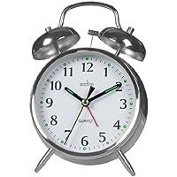 Acctim 12997 Saxon Reloj de cuarzo con alarma, cromado