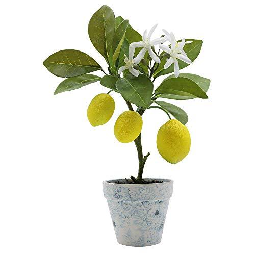 XiaZ Künstliche Zitronenbaum, Formschnitt, Topfpflanzen, Blumen, Zuhause, Party, Garten, Dekoration, 30,5 cm Lemon Potted