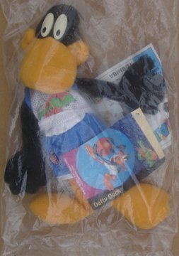 daffy-duck-space-jam-plush-from-mcdonalds-kids-meal-unopened-package-1996-by-mcdonalds