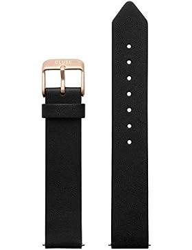 Cluse Damen Uhrenarmband La Roche Leder Schwarz CLS414