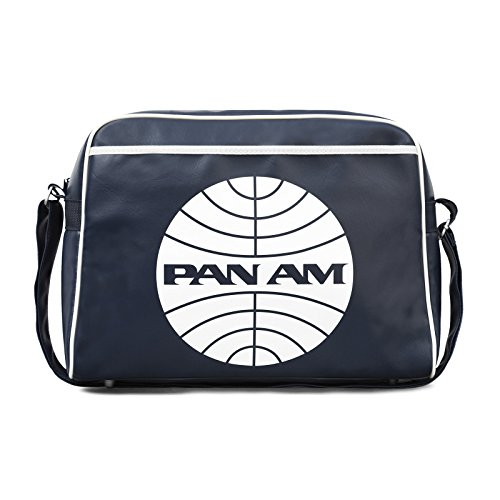 pan-am-street-bag-shoulder-bag-retro-look-with-logo-licensed-with-metal-studs-high-quality-navy