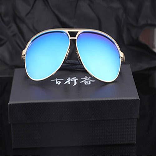 LKVNHP Hohe Qualität (150Mm / 160Mm) Übergroße Sonnenbrille Polarisierte Männer Aviation Mirror Großes Gesicht Sonnenbrille Für Männer Fahren Polarisierende150Mm Blau