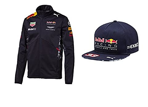 Red Bull Racing 2017F1Team pour homme Puma Veste softshell et capuchon, Homme, bleu marine