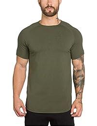 518c62538 LuckyGirls Camisetas Hombre Manga Cortos Verano Camisa Color Sólido Casuales  Deportivas Músculo Polos Slim Culturismo Remera (2XL