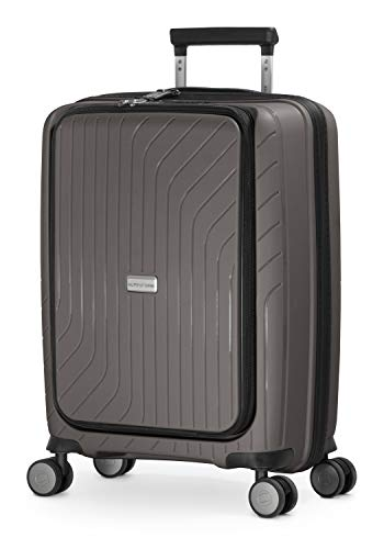 HAUPTSTADTKOFFER - TXL - leichtes Handgepäck mit Laptoptasche, Hartschalen-Trolley aus robustem Polypropylen, 55 cm, 40 L,TSA-Schloss, Titan