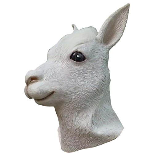 HBOS Lustige Tier Alpaka Latex Maske für ()
