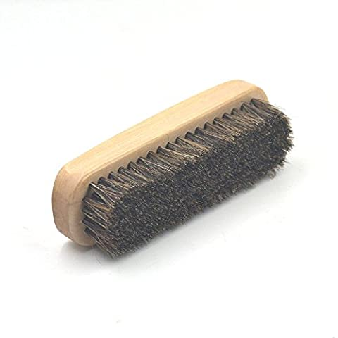 One Professional HorseHair Shoe Shine Brush Polish Applicator Boot Wood