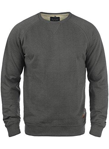 BLEND Alex 20701680ME Sweatshirt, Größe:M;Farbe:Pewter Mix (70817) Blend Herren Sweatshirt