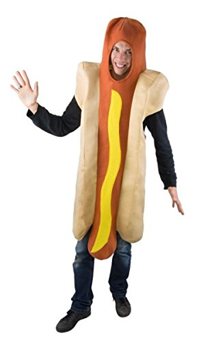 P'tit Clown 46054 Hot-Dog-Kostüm für Erwachsene (Für Dog Erwachsene Hot Kostüme)