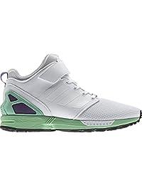 Adidas, Donna, Zx Flux NPS Mid, Mesh / Pelle, Sneakers Alte, Bianco, 37&#x EU
