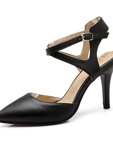 WSS 2016 Chaussures Femme-Bureau & Travail / Décontracté-Noir / Beige-Talon Aiguille-Talons / Confort / Bout Pointu-Talons-Velours / Polyuréthane beige-us10.5 / eu42 / uk8.5 / cn43
