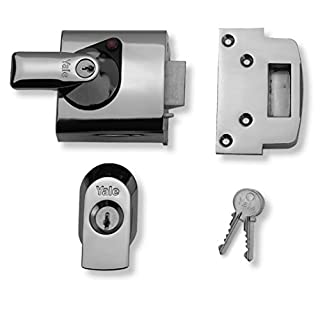 Yale British Standard Maximum Security 60mm Nightlatch, External Door Lock, Yale BS1 Night Latch Offers Maximum Security against Known Methods of Attack, Complete with an Easy Fitting Guide