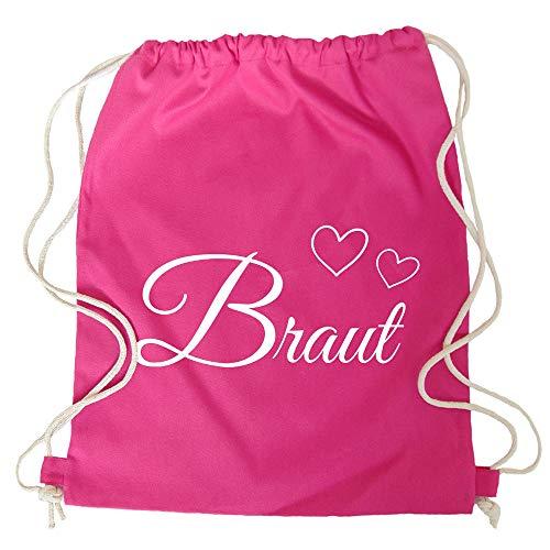 Des Kostüm Tag Sports Am Besten - Partybob JGA Turnbeutel-Rucksack Braut - Herzen (Pink)