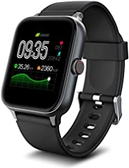 IOWODO R3Pro Smartwatch Donna Uomo Orologio Fitness 1,54'' Full Touch Impermeabil IP68 Cardiofrequenzi