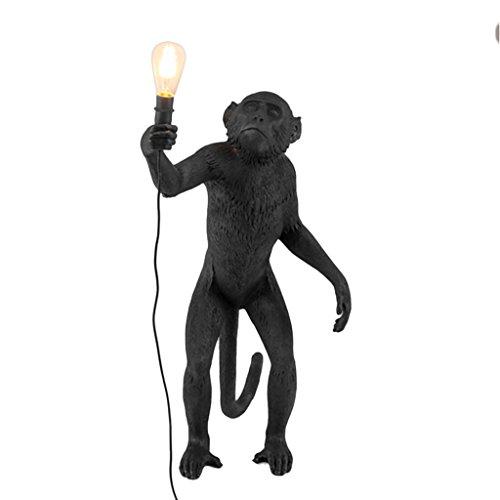 ZWD Lustre animal, créative magasin de vêtements noir Résine lustre chambre d'enfants décoration lustre corde de chanvre lustre lampe murale lampe de table lampe de plancher Luminaire (Couleur : D)
