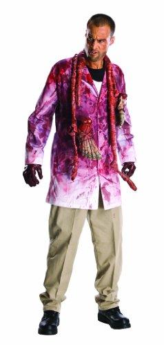 The Walking Dead Rick Grimes Bloody Zombie Parts Costume Adult One Size (Rick Walking Grimes Kostüm Dead)