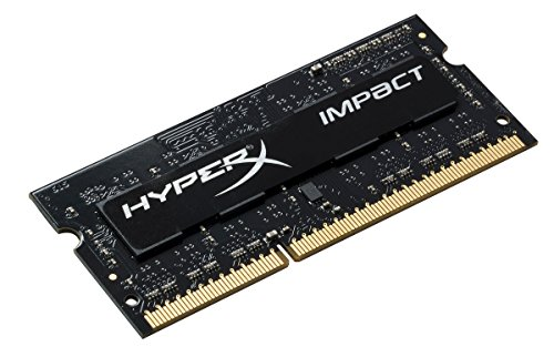 Kingston HyperX Impact S/O Memoria DDR3L, CL11, SODIMM, 1.35V, PC 1866, 4 GB, Standard, Nero
