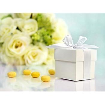 Lot de 10 boites cadeaux pour dragées de mariage